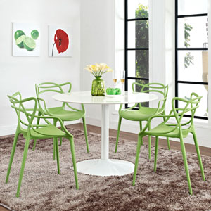 Entangled Dining Set  of 4 in Green