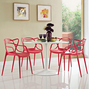 Entangled Dining Set  of 4 in Red