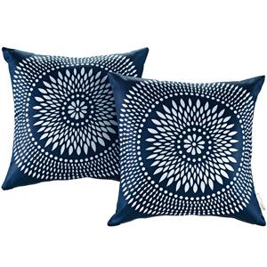 Two Piece Outdoor Patio Pillow Set in Cartouche