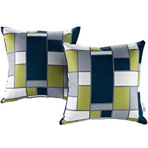 Two Piece Outdoor Patio Pillow Set in Rectangle