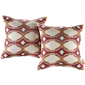 Two Piece Outdoor Patio Pillow Set in Repeat