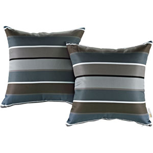 Two Piece Outdoor Patio Pillow Set in Stripe