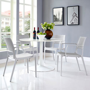 Astute Dining Set  of 4 in Gray