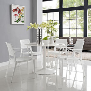 Astute Dining Set  of 4 in White