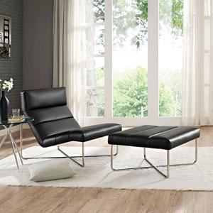 Reach Living Room Set  of 2 in Black