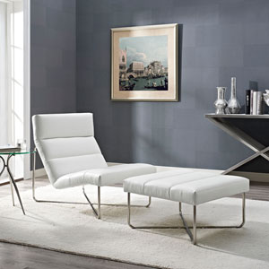 Reach Living Room Set  of 2 in White