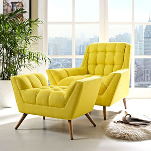 Response Living Room Set  of 2 in Sunny