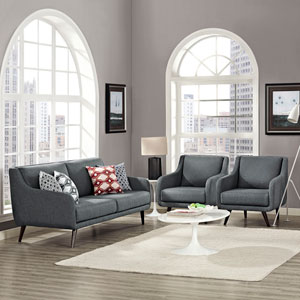 Verve Living Room Set  of 3 in Gray