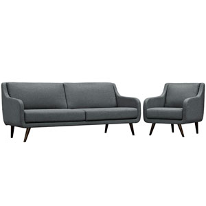 Verve Living Room Set  of 2 in Gray
