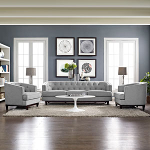 Coast Living Room Set  of 3 in Light Gray