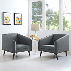 Slide Armchairs Set of 2 in Gray