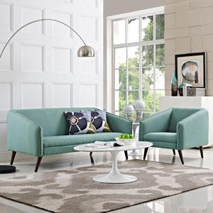 Slide Living Room Set  of 2 in Laguna