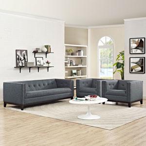 Serve Living Room Set  of 3 in Gray