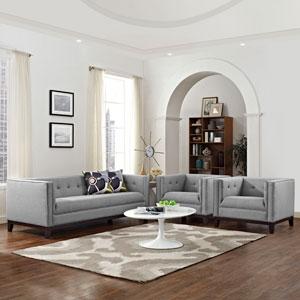 Serve Living Room Set  of 3 in Light Gray