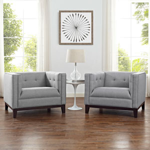 Serve Armchairs Set of 2 in Light Gray