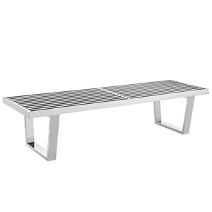 Sauna 5 ft. Stainless Steel Bench in Silver