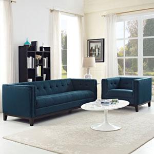 Serve Living Room Set  of 2 in Azure