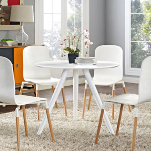 Lippa 36-inch Wood Top Dining Table in White