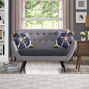 Allegory Loveseat in Light Gray