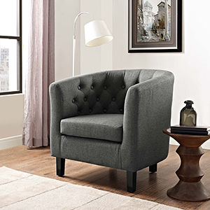 Prospect Upholstered Armchair in Gray