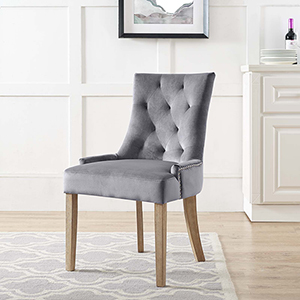 Pose Upholstered Fabric Dining Chair in Gray