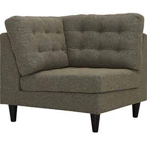 Empress Upholstered Fabric Corner Sofa in Oatmeal