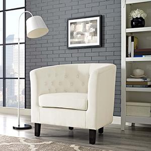 Prospect Velvet Armchair in Ivory