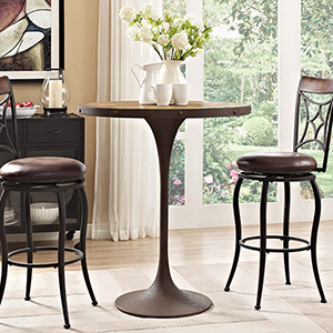 Drive Wood Bar Table in Brown