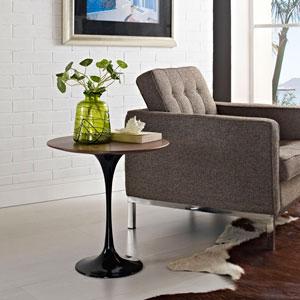 Lippa 20-inch Wood Side Table in Black