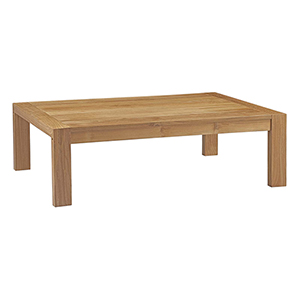 Upland Outdoor Patio Wood Coffee Table in Natural