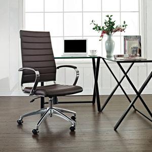 Jive Highback Office Chair in Brown