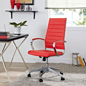 Jive Highback Office Chair in Red