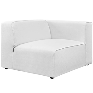 Mingle Fabric Armchair in White