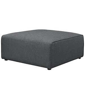 Mingle Fabric Ottoman in Gray