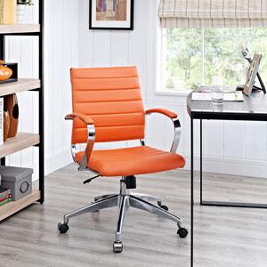 Jive Mid Back Office Chair in Orange