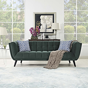 Bestow Velvet Sofa in Green