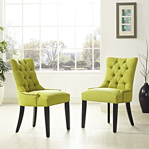 Regent Dining Side Chair Fabric Set of 2 in Wheatgrass