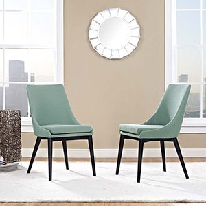 Viscount Dining Side Chair Fabric Set of 2 in Laguna
