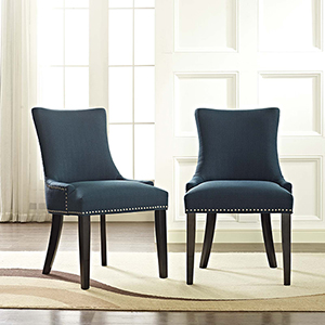 Marquis Dining Side Chair Fabric Set of 2 in Azure