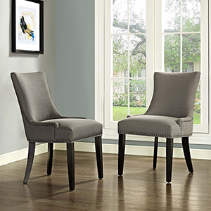 Marquis Dining Side Chair Fabric Set of 2 in Granite