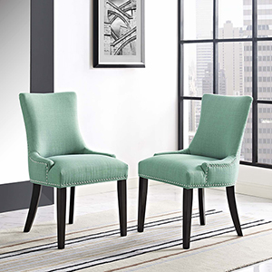 Marquis Dining Side Chair Fabric Set of 2 in Laguna