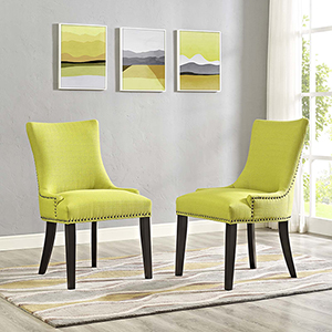 Marquis Dining Side Chair Fabric Set of 2 in Wheatgrass