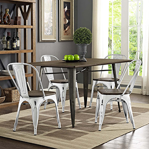 Promenade Dining Side Chair Set of 4 in White