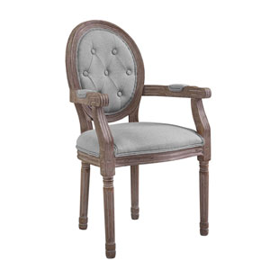 Arise Vintage French Upholstered Fabric Dining Armchair