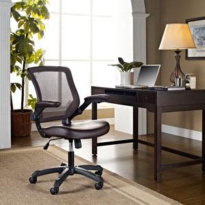 Veer Vinyl Office Chair in Brown