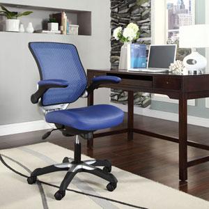 Edge Vinyl Office Chair in Blue