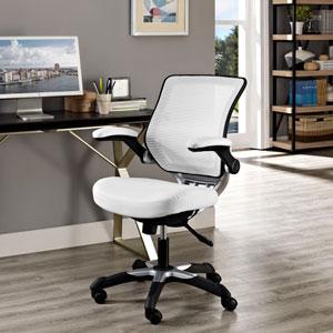 Edge Vinyl Office Chair in White