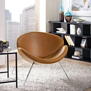 Nutshell Lounge Chair in Tan