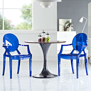 Casper Dining Armchairs Set of 2 in Blue
