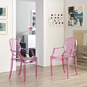 Casper Dining Armchairs Set of 2 in Pink